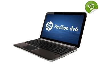 HP Pavilion dv6 AMD A8 Quad Core 2.6GHz 4GB 500GB Radeon Win 7 / 10