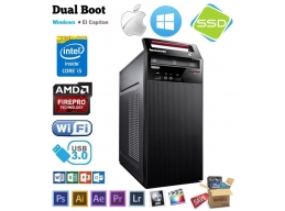 Lenovo Hackintosh E73 Core i5-4430 3GHz SSD FirePro Mac OSX Win 7