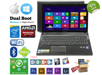 Lenovo G510 Intel i7-4700MQ 6GB 1TB Radeon Win or Mac OS Hackintosh
