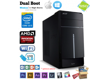 Acer Intel i3-4130 up to 16GB 2TB / GFX / SSD, Mac Pro, Win Hackintosh