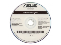 Asus Recovery Media disc set for laptop / notebook - Windows