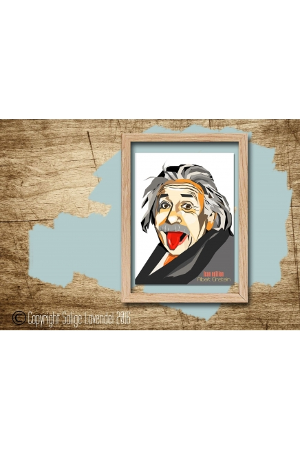 Albert Einstein print, serie Icon edition