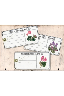Store blomster tags
