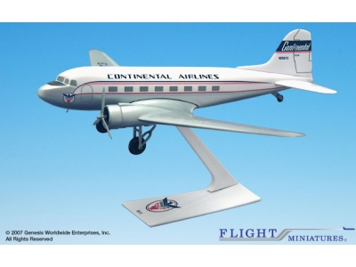 Continental Airlines Douglas DC-3 1:100
