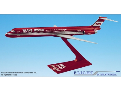 "TWA Trans World McDonnell Douglas MD-83 ""Wings of Pride"" 1:200"