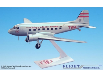 "TWA Douglas DC-3 ""Victory is in the Air"" 1:100"