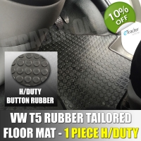 VW T5 T6 Front Tailored Fit 1 PC Rubber Mat