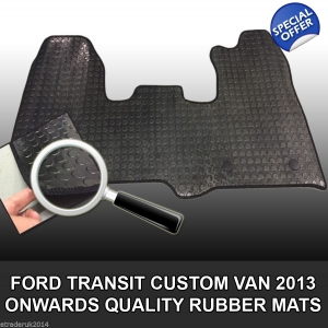 Ford Transit Custom Rubber Floor Mat One Piece 2013  2 CLIP