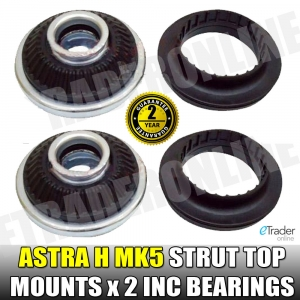 Vauxhall Astra H MK5 Front Suspension Strut Top Mounts & Bearings PAIR