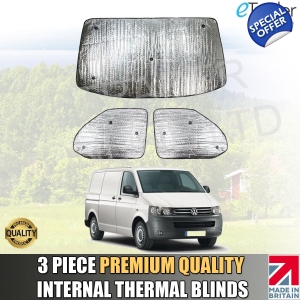VW T5 Thermal Blinds Van Camper Internal Premium Quality 3pce