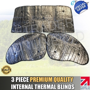 Fiat Ducato 94-03 Thermal Blinds Internal Luxury Premium Quality 3pc