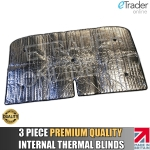 Fiat Ducato 03-06 Thermal Blinds Internal Luxury Premium 3pc