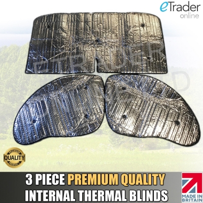 Fiat Ducato 06-15 Thermal Blinds Internal Luxury Premium Quality 3pc