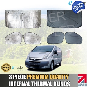 Vauxhall Vivaro 2001-2014 Internal Thermal Blinds Luxury