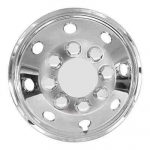"Chrome Look 15"" Van Motorhome Wheel Trims"