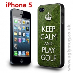 IPHONE 5 CASE - KEEP CALM AND PLAY GOLF
