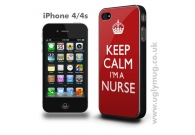 IPHONE 4/4s CASE - KEEP CALM I'M A NURSE