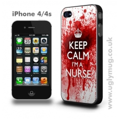 IPHONE 4/4s CASE - KEEP CALM I'M A NURSE  -  BLOODY