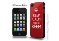 Keep Calm and Be Reem iphone 4/s case
