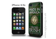 AMERICAN IRISH -  IPHONE 4/S CASE MADE..