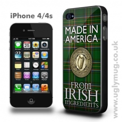 AMERICAN IRISH -  IPHONE 4/S CASE MADE IN AMERICA FROM IRISH INGREDIENTS