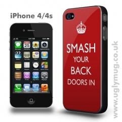 Smash your back doors in iphone 4/s case