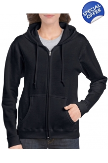 Ladies Fit Full Zip Hoo..
