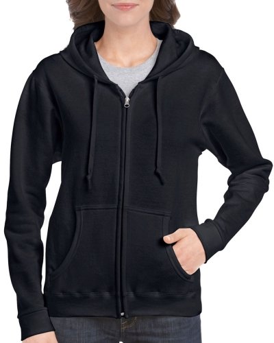 Ladies Fit Full Zip Hooded Sweatshirt