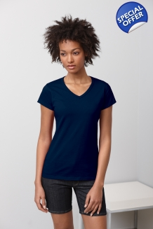 Ladies V-Neck T Sh..