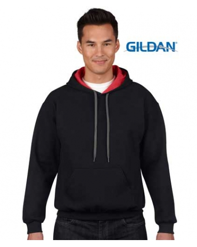 Adult Contrast Hooded Sweat