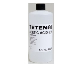 Acetic Acid 60%  1-litre THIS PRODUCT CANNOT BE SENT BY POST PLEASE SELECT NEXT DAY COURIER