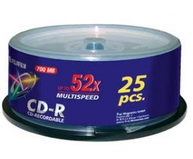 Fuji 700MB CD-R 25 on Spindle