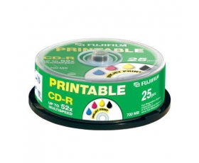 Fuji 700MB CD-R Printable 25 on Spindle
