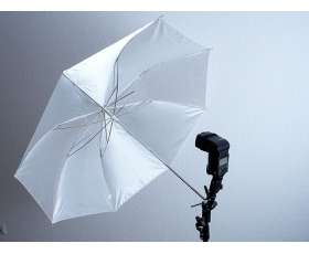 FLASH UMBRELLA 48' D/Sided Silver White