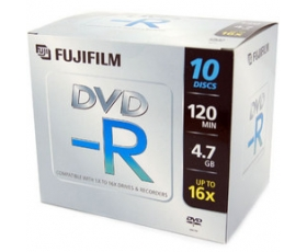 Fuji DVD-R 4.7GB 10 Disks + Jewel Case