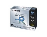 Fuji DVD-R 4.7GB 10 Disks + Slim Jewel Case