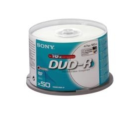 Sony DVD-R 4.7GB Printable 50 on Spindle