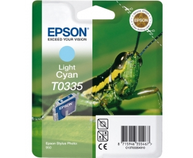 Epson T0335 Light Cyan Ink Cartridge 17-ml