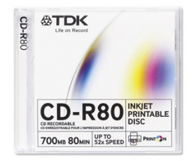 TDK CD-R 700MB Printable 1 Disk