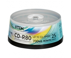 TDK CD-R 700MB 25 on spindle