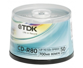TDK CD-R 700MB 50 on spindle