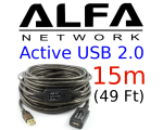 Alfa Network 15M Active USB 2.0 cable, AUSBC-15M,
