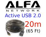 20M Active USB 2.0 cable,Alfa Network AUSBC-20M