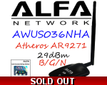 AWUS036NHA Alfa Network B/G/N Wireless USB Adapt..