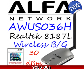 CLEARANCE ITEM AWUS036H Wirelesss USB Network adapter Alfa Network