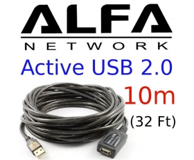 Alfa Network 10M Active USB 2.0 cable, AUSBC-10M,