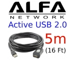 Alfa Network 5M Active USB 2.0 cable,AUSBC-5M,