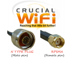 N Plug  to RPSMA 1m Cable HDF200 Pigtail