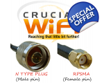N Plug  to RPSMA 2m Cable HDF200 Pigtail