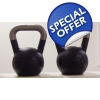 Pair of 4kg Pro Range Kettlebells with..